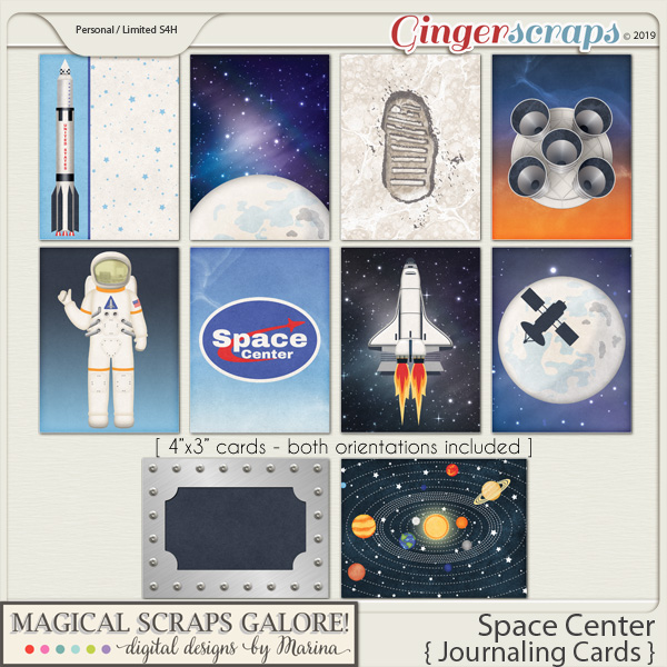 Space Center (journaling cards)