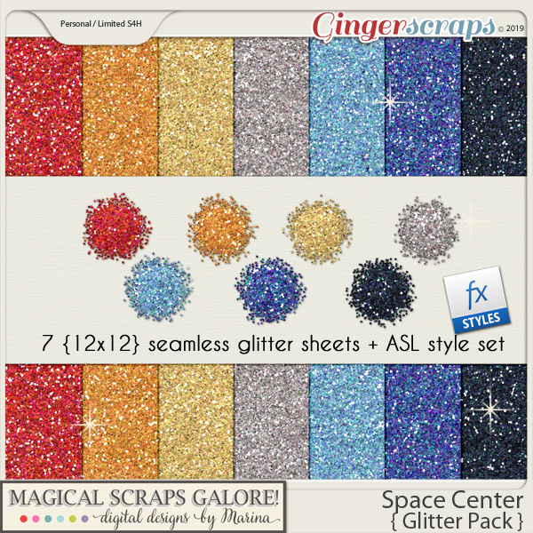 Space Center (glitter pack)