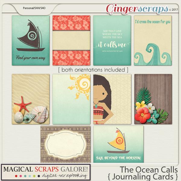 The Ocean Calls (journaling cards)
