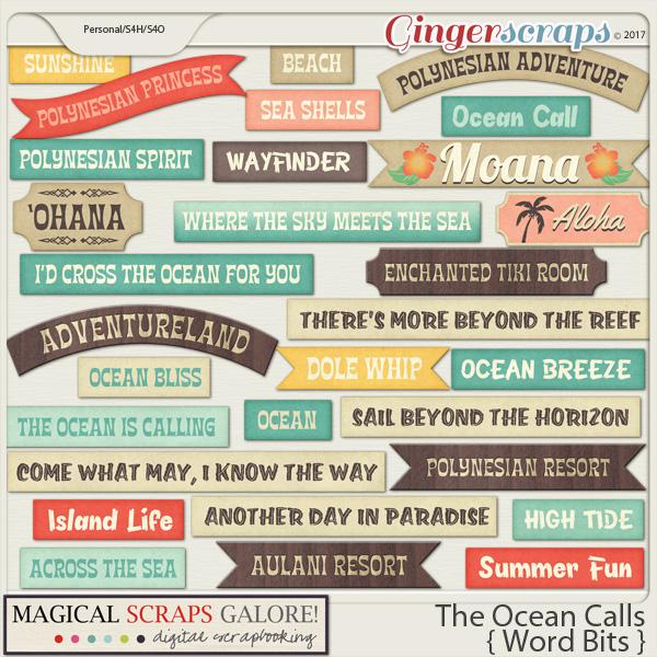 The Ocean Calls (word bits)