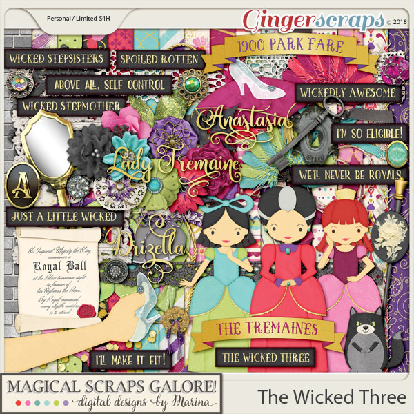 The Wicked Three (page kit)