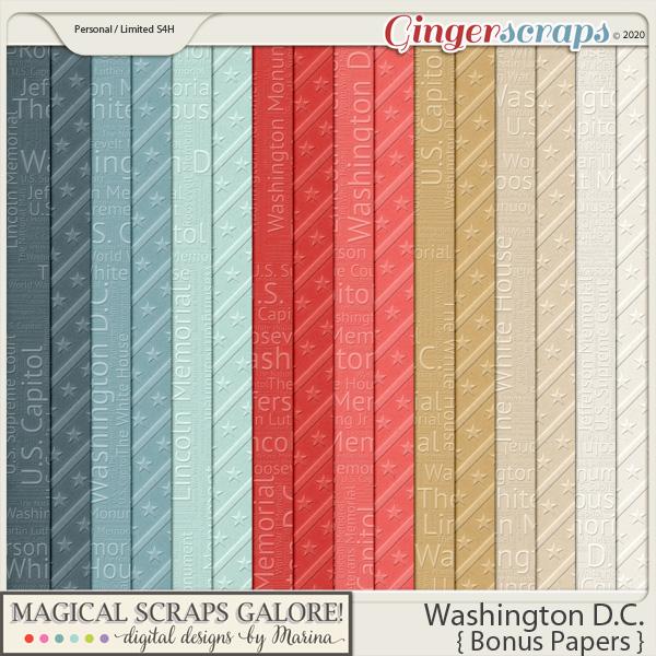 Washington DC (bonus papers)