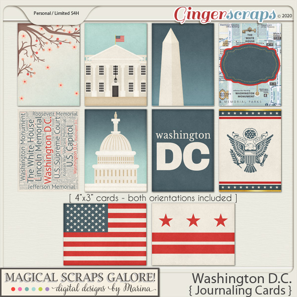 Washington DC (journaling cards)
