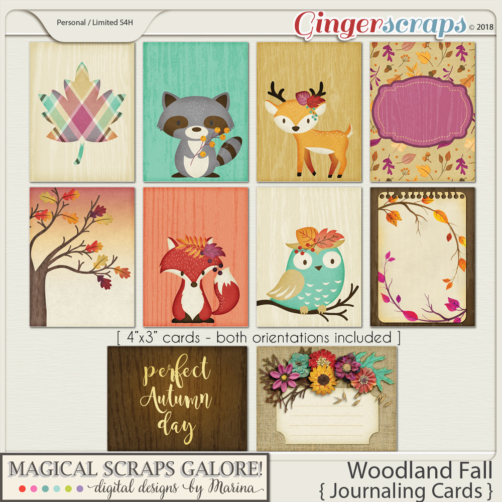 Woodland Fall (journaling cards)