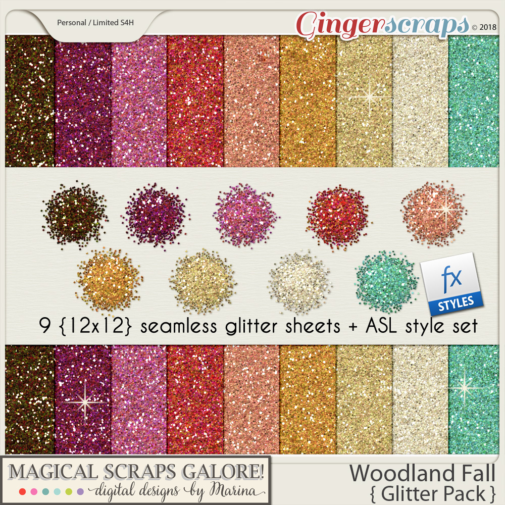 Woodland Fall (glitter pack)