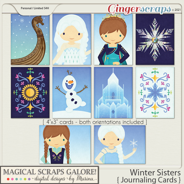 Winter Sisters (journaling cards)