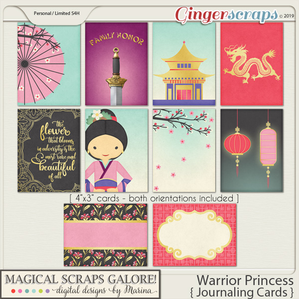 Warrior Princess (journaling cards)