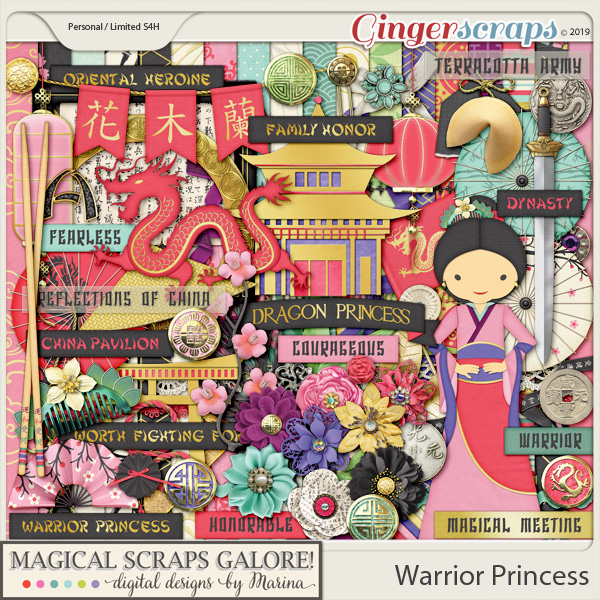 Warrior Princess (page kit)