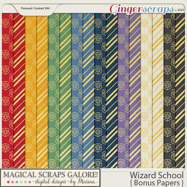 Wizard School (bonus papers)