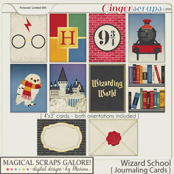 Wizard School (journaling cards)