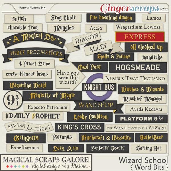 Wizard School (word bits)