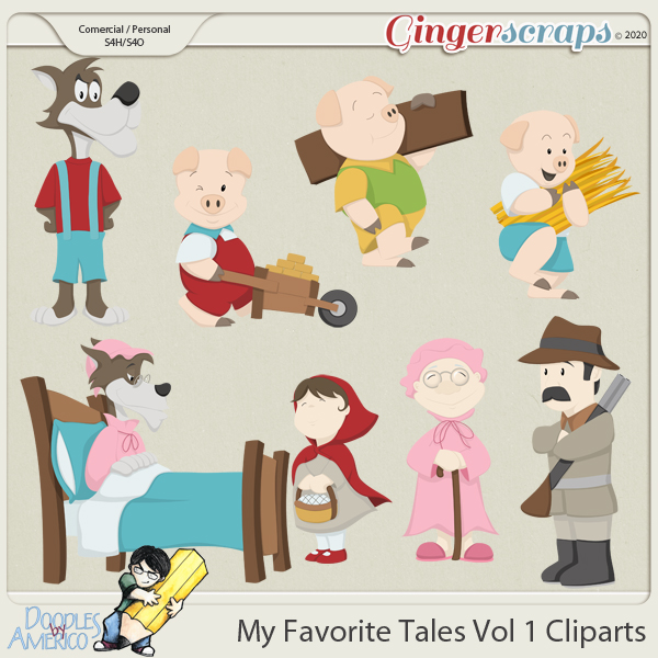 Doodles By Americo: My Favorite Tales Vol 1 Cliparts