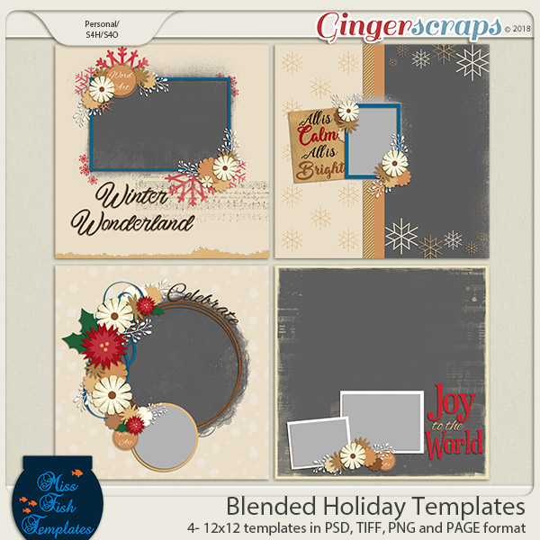 Blended Holidays Templates by Miss Fish