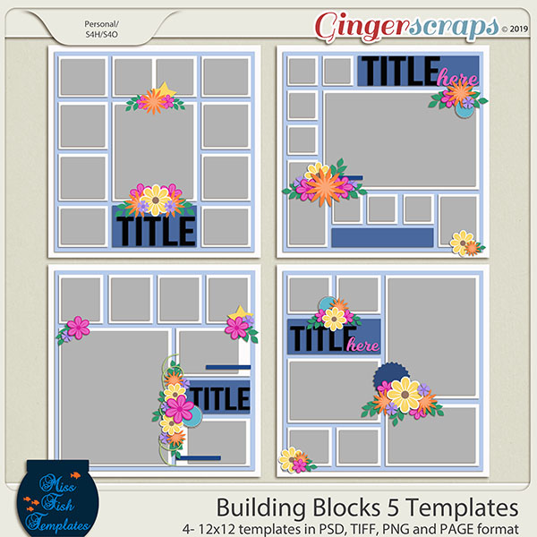 Building Blocks 5 Templates by Miss Fish