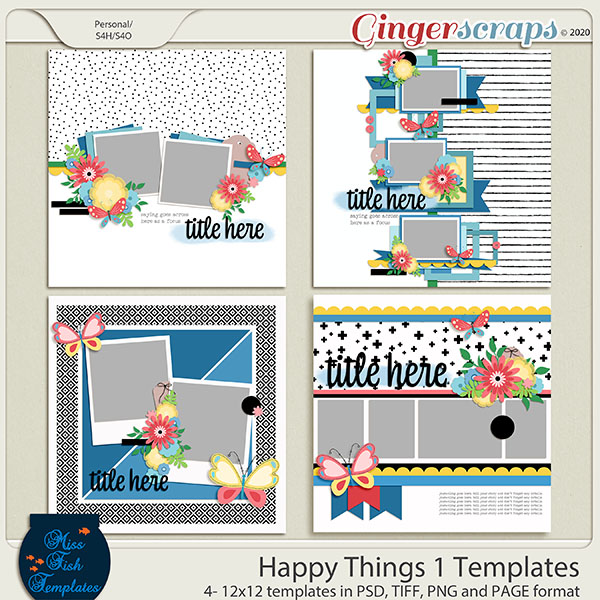 Happy Things Templates by Miss Fish