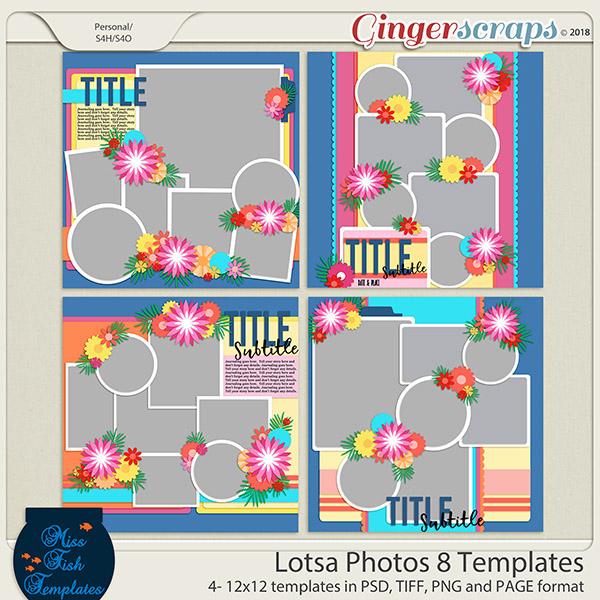 Lotsa Photos 8 Templates by Miss Fish