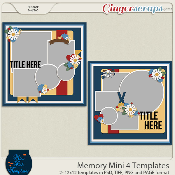 Memory Mini 4 Templates by Miss Fish