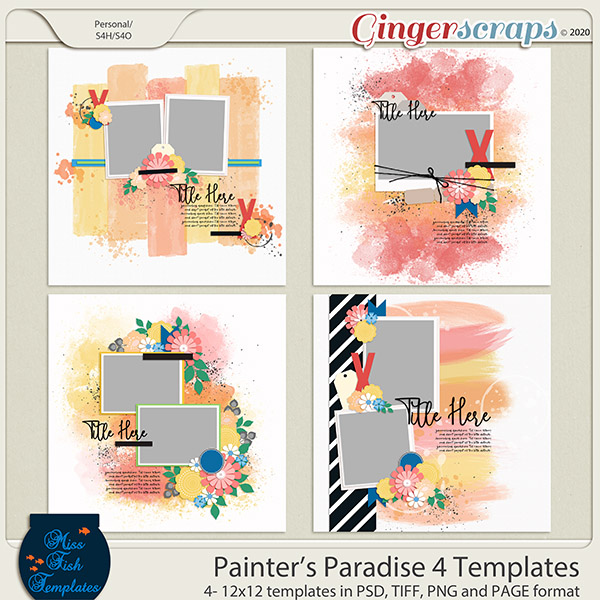 Painters Paradise 4 Templates by Miss Fish
