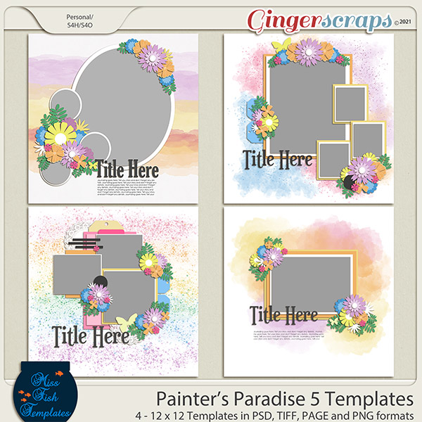 Painters Paradise 5 Templates by Miss Fish