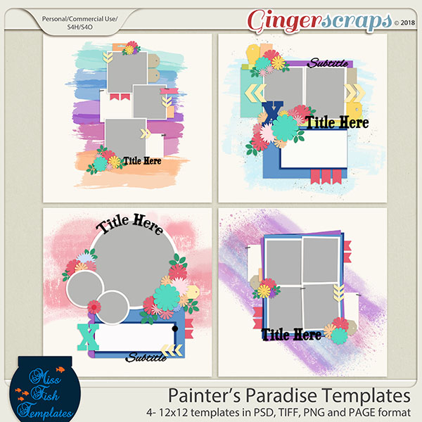 Painter's Paradise Templates by Miss Fish