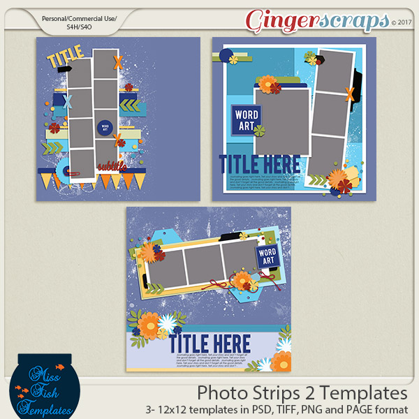 Photo Strip 2 Templates