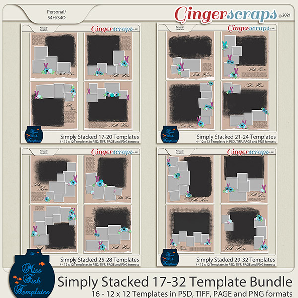 Simply Stacked 17-32 Template Bundle by Miss Fish