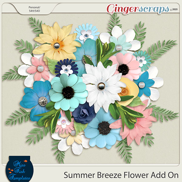 Summer Breeze Flower Add On by Miss Fish