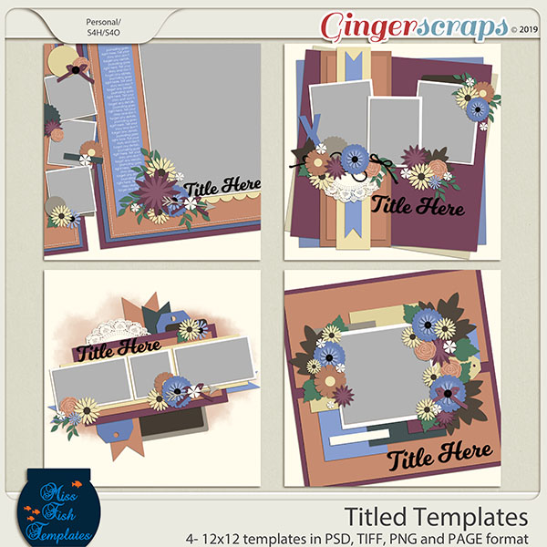 Tilted Templates by Miss Fish Templates