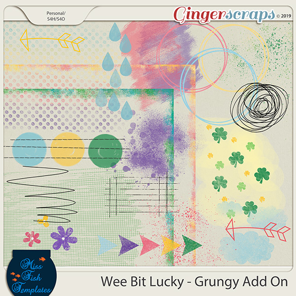 Wee Bit Lucky Grungy Add Ons by Miss Fish