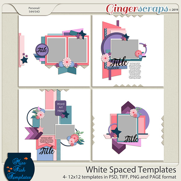 White Spaced Templates by Miss Fish