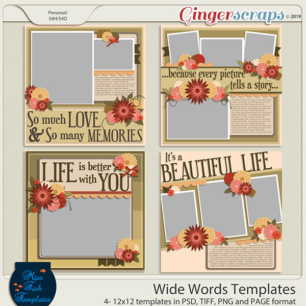 Wide Words Templates by Miss Fish