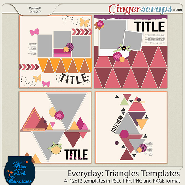 Everyday Triangles Templates by Miss Fish