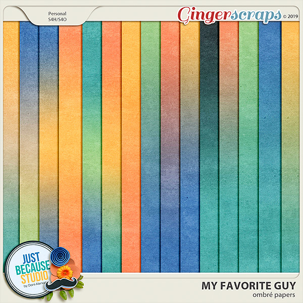 My Favorite Guy Ombré Papers by JB Studio