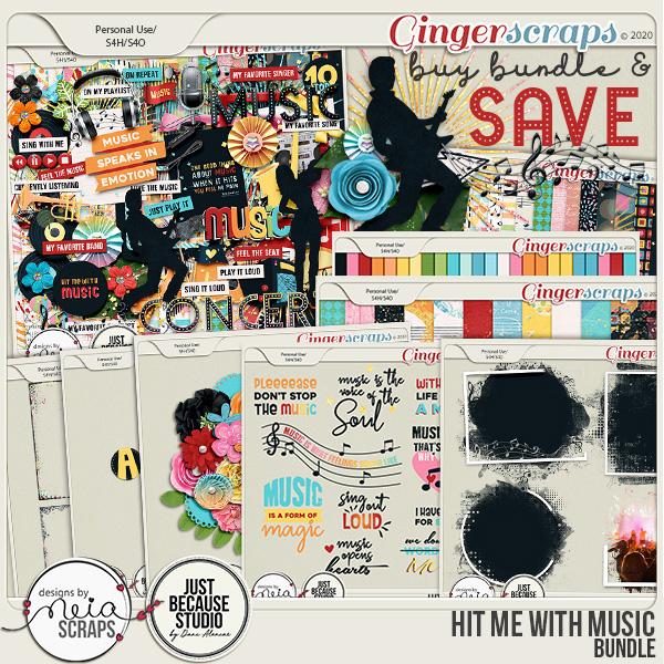 Hit Me with Music - Bundle - by Neia Scraps & JB Studio