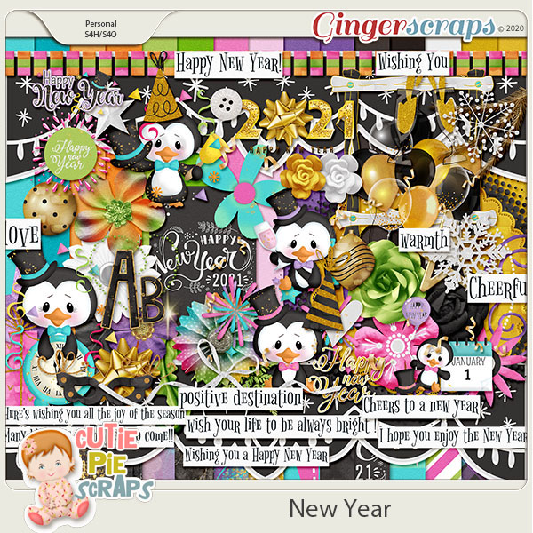New Year-Page Kit