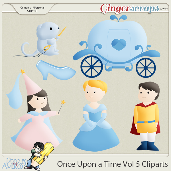 Doodles By Americo: Once Upon a Time Vol 5 Cliparts