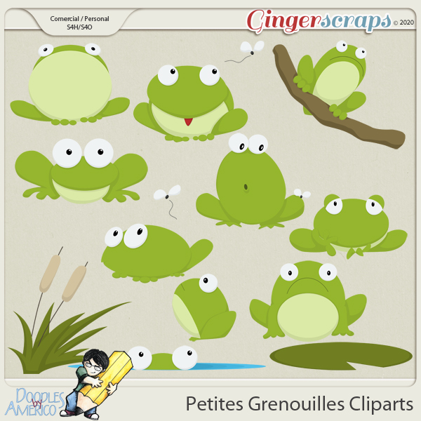 Doodles By Americo: Petites Grenouilles Cliparts