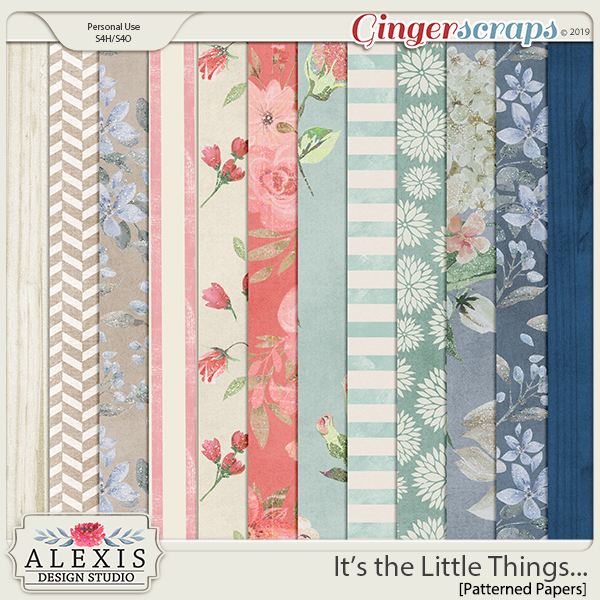 It's the Little Things - Patterned Papers