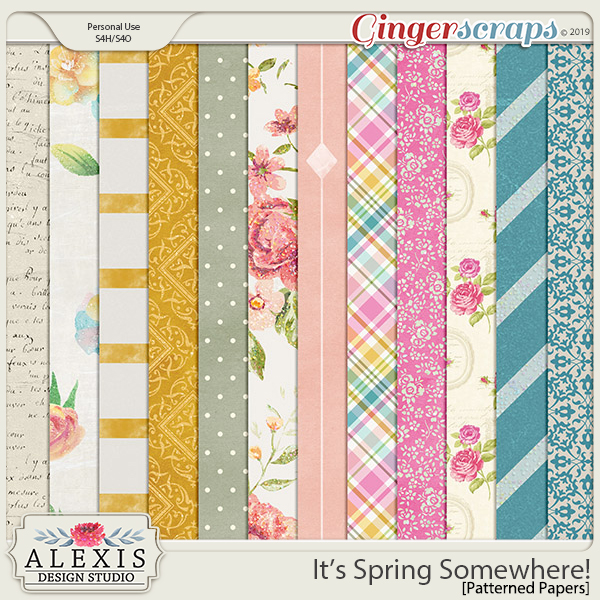 It's Spring Somewhere - Patterned Papers