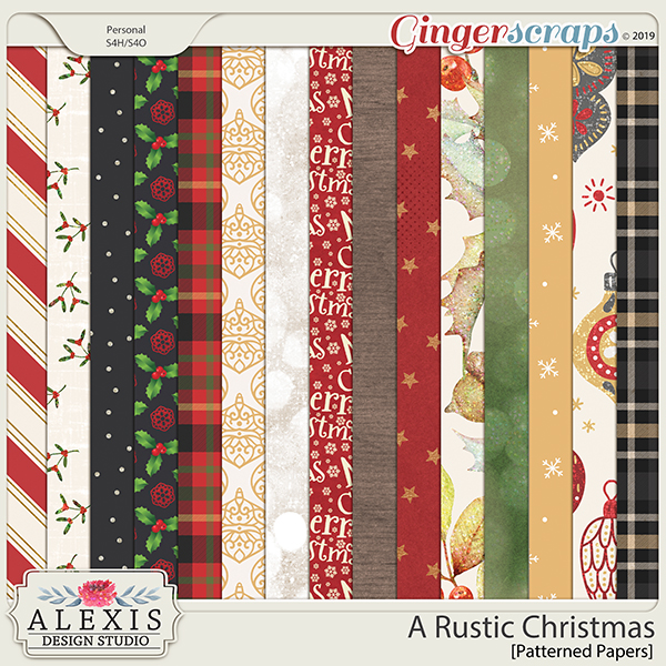 A Rustic Christmas - Patterned Papers