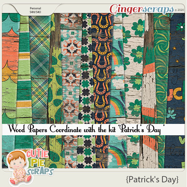 Patrick's Day Wood Papers