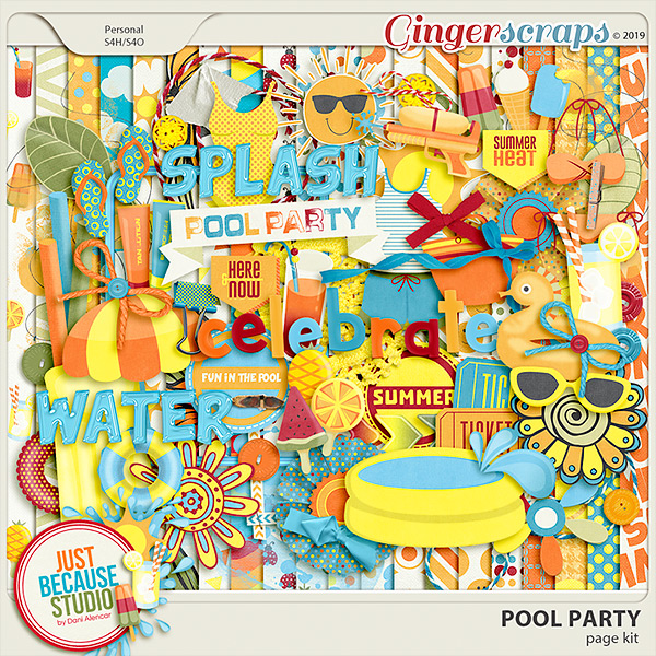 Pool Party Page Kit by JB Studio