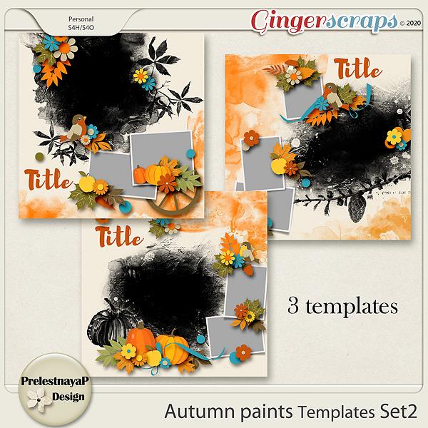 Autumn paints Templates Set2