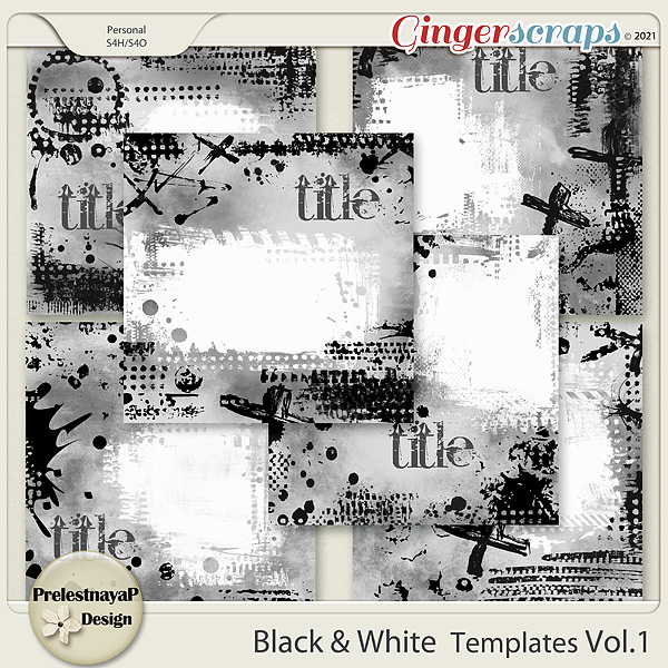 Black & White Templates Vol.1