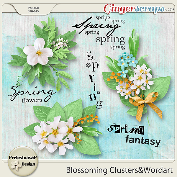 Blossoming Clusters&Wordart