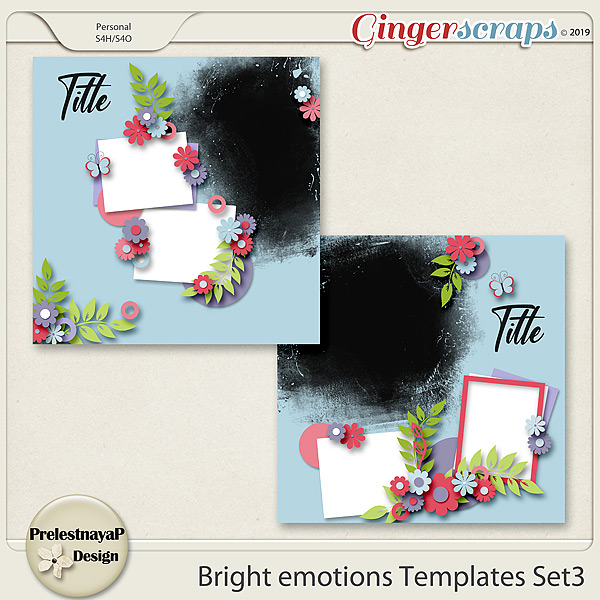 Bright emotions Templates Set3