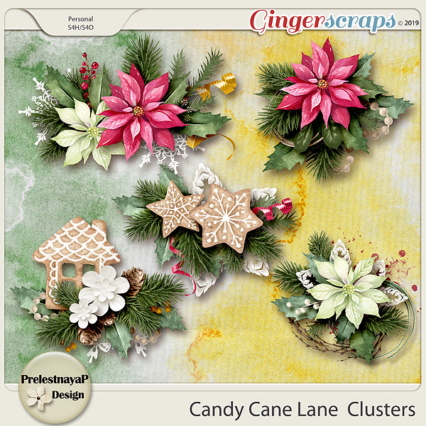 Candy Cane Lane  Clusters