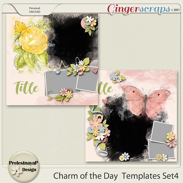 Charm of the Day Templates Set4