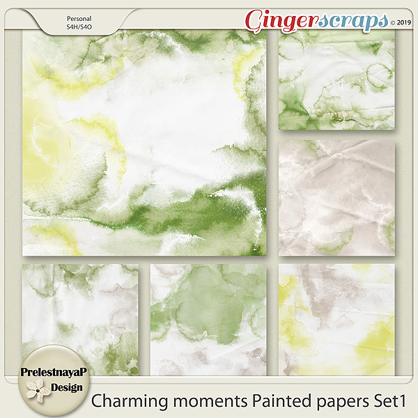 Charming moments Painted papers Set1
