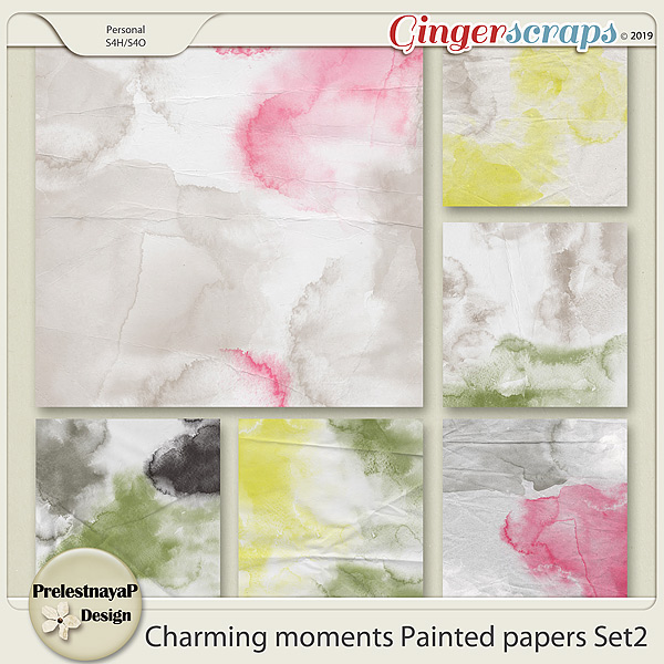 Charming moments Painted papers Set2